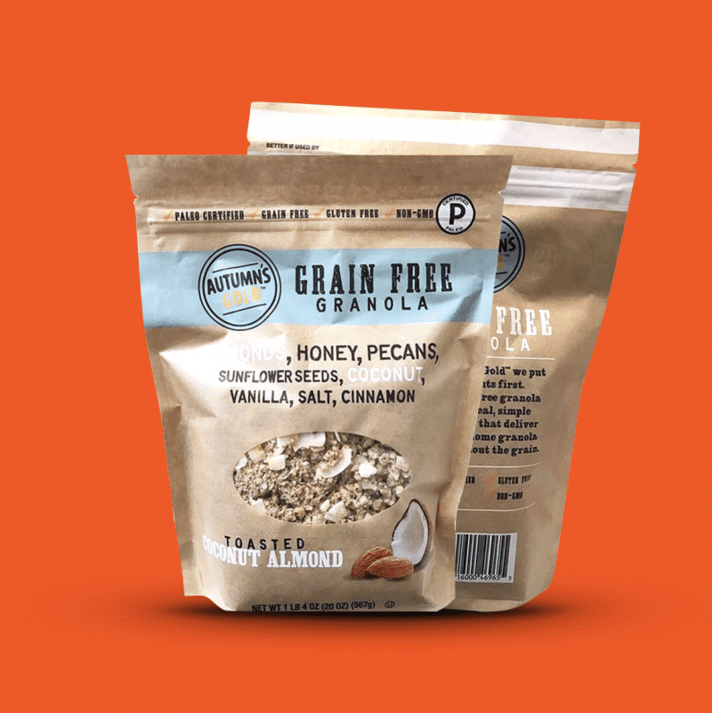 Grain Free Certified Gluten Free and Paleo Autumn's Gold
