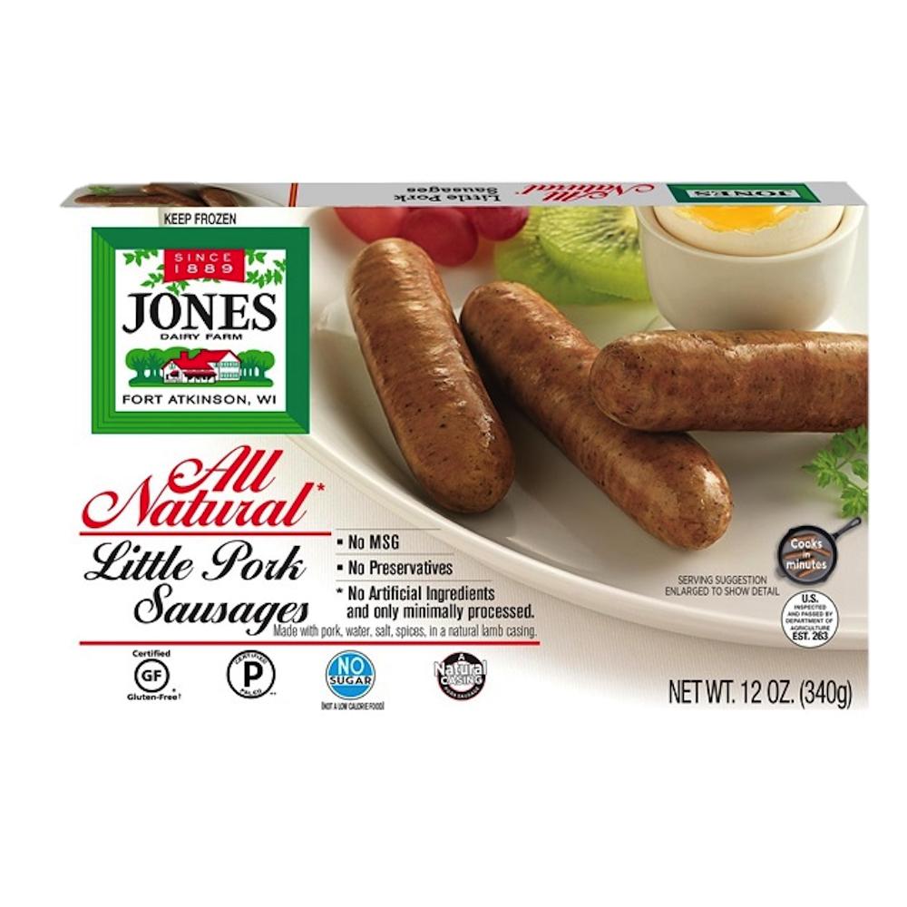 No Sugar All Natural Pork Breakfast Sausage Little Links - Jones Dairy Farm - Certified Paleo by the Paleo Foundation