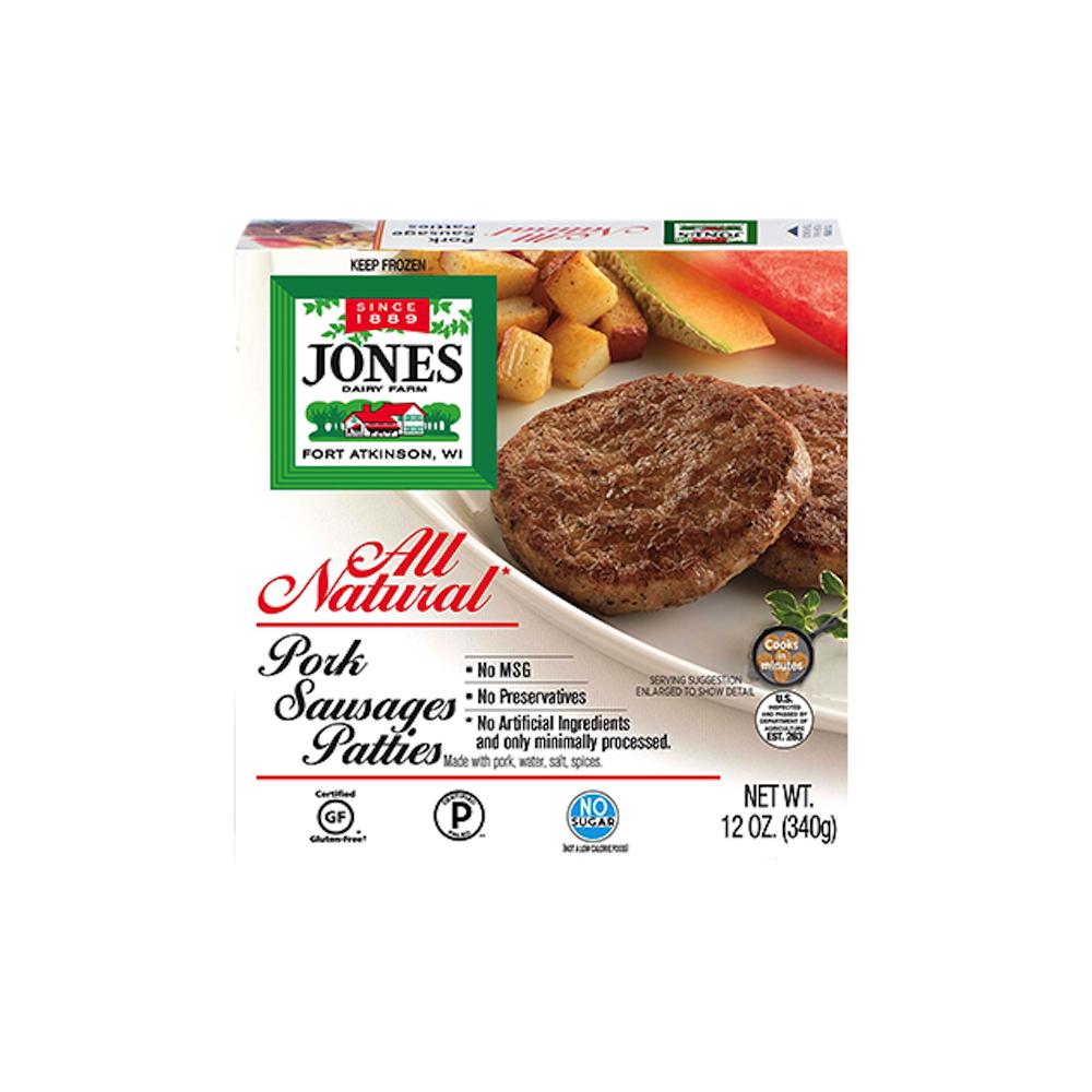 No Sugar All Natural Pork Breakfast Sausage Patties - Jones Dairy Farm - Certified Paleo by the Paleo Foundation