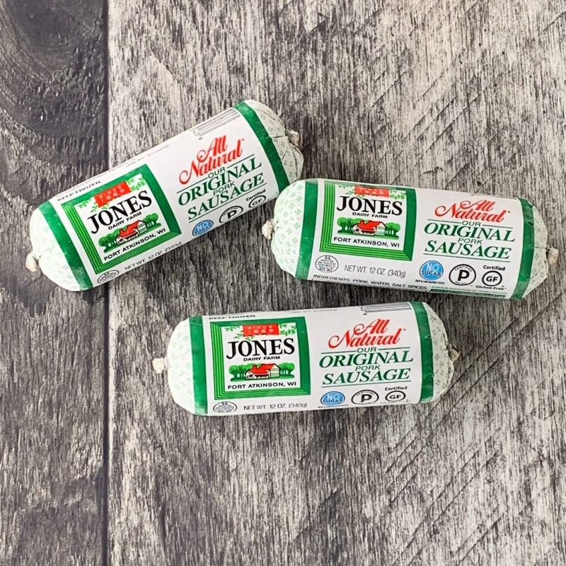 No Sugar All Natural Pork Breakfast Sausage Roll 1 - Jones Dairy Farm - Certified Paleo by the Paleo Foundation