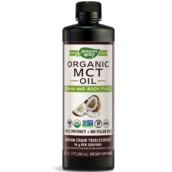 100% MCT Oil - Nature's Way - Certified Paleo, Keto Certified by the Paleo Foundation