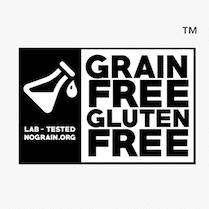 GRAIN FREE GLUTEN FREE CERTIFIED LOGO