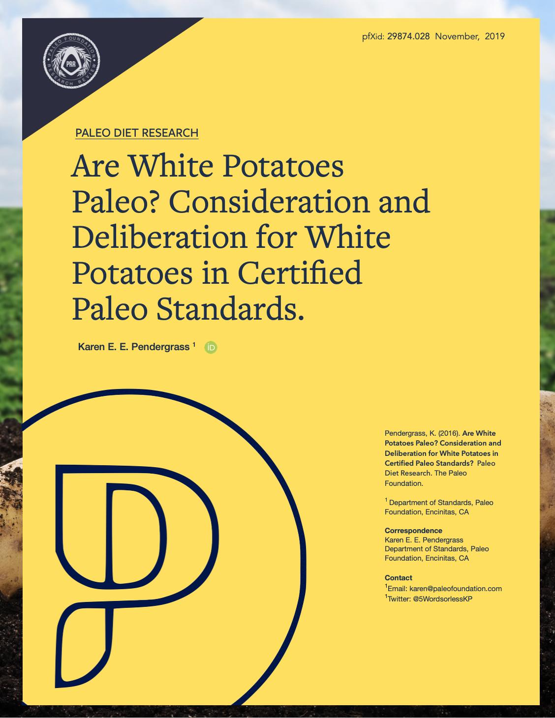 Are White Potatoes Paleo?