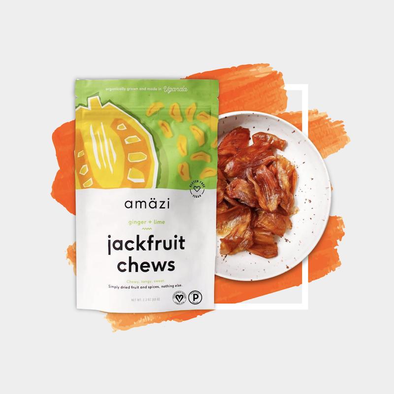 Amazi Foods Ginger + Lime Jackfruit Chews