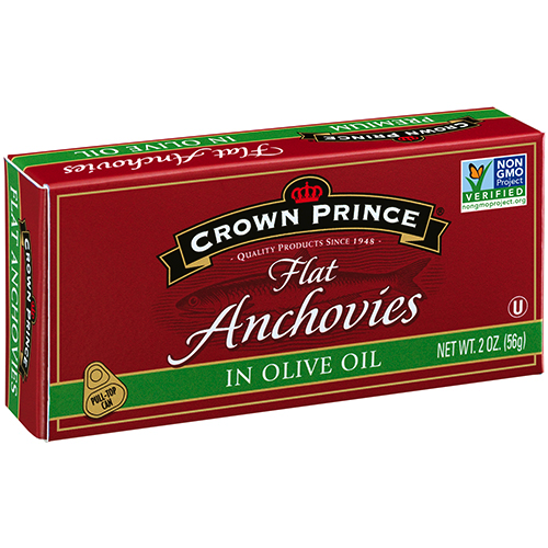 Flat Anchovies in Olive Oil - Crown Prince - Certified Paleo Keto Certified - Paleo Foundation