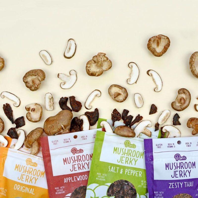 Lineup - Pan's Mushroom Jerky - Certified Paleo Friendly, PaleoVegan by the Paleo Foundation