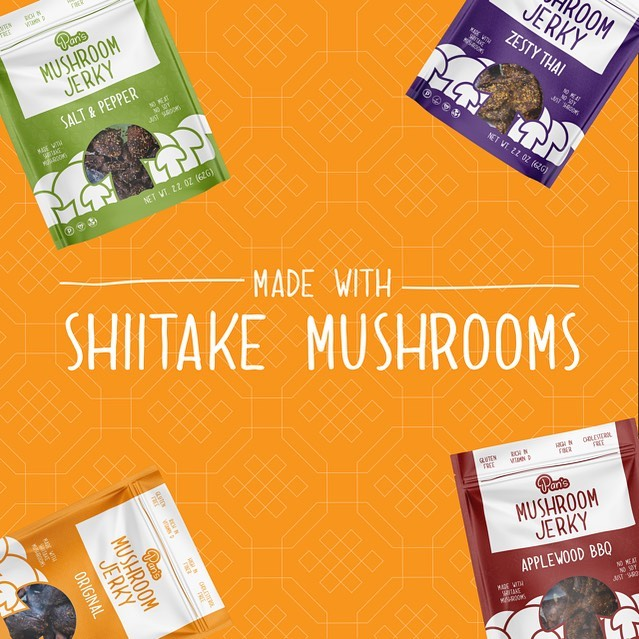 Made with Shiitake Mushrooms - Pan's Mushroom Jerky - Certified Paleo Friendly, PaleoVegan by the Paleo Foundation