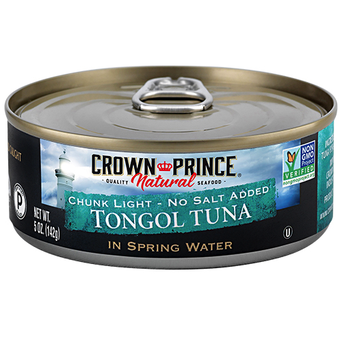 Natural Chunk Light Tongol Tuna - No Salt Added - Crown Prince Seafood - Certified Paleo - Paleo Foundation