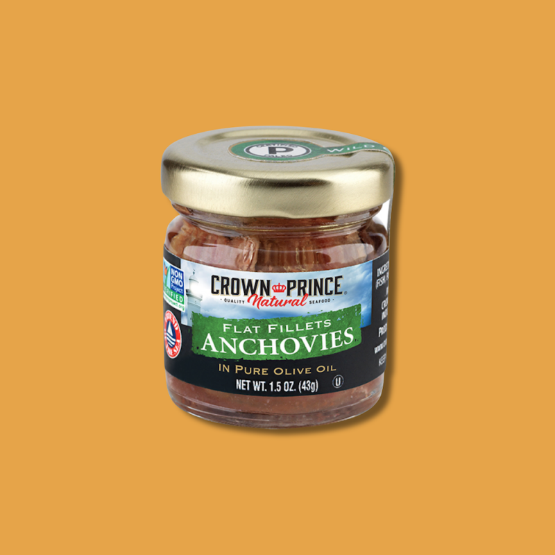 Natural Flat Anchovies in Olive Oil 10 - Crown Prince Seafood - Certified Paleo - Paleo Foundation