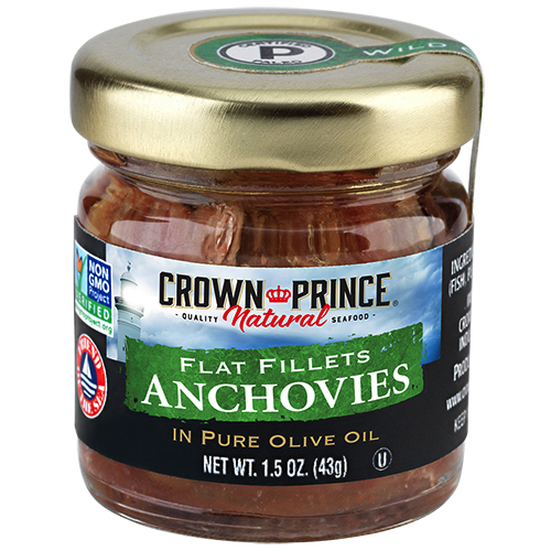 Natural Flat Anchovies in Olive Oil - Crown Prince Seafood - Certified Paleo - Paleo Foundation