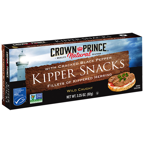 Natural Kipper Snacks with Cracked Black Pepper - Crown Prince - Certified Paleo Keto Certified - Paleo Foundation