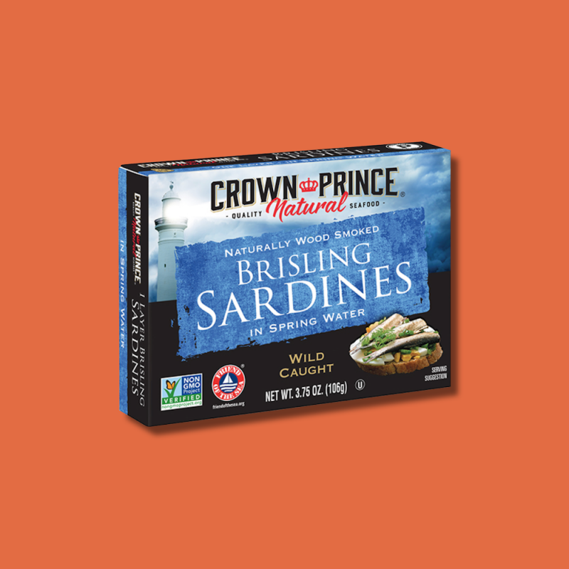 Natural One Layer Brisling Sardines in Spring Water 10 - Crown Prince Seafood - Certified Paleo - Paleo Foundation