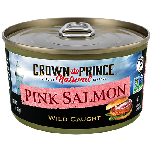 Natural Pink Salmon - No Salt Added - Crown Prince Seafood - Certified Paleo - Paleo Foundation