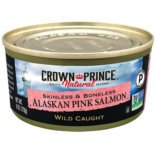 Natural Skinless and Boneless Pink Salmon - Crown Prince - Certified Paleo Keto Certified - Paleo Foundation