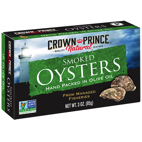 Natural Smoked Oysters in Olive Oil - Crown Prince Seafood - Certified Paleo - Paleo Foundation