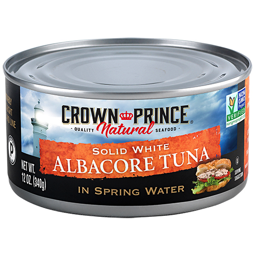 Natural Solid White Albacore Tuna - Crown Prince - Certified Paleo Keto Certified - Paleo Foundation