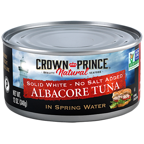 Natural Solid White Albacore Tuna - No Salt Added - Crown Prince Seafood - Certified Paleo - Paleo Foundation