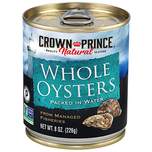 Natural Whole Boiled Oysters - Crown Prince Seafood - Certified Paleo - Paleo Foundation