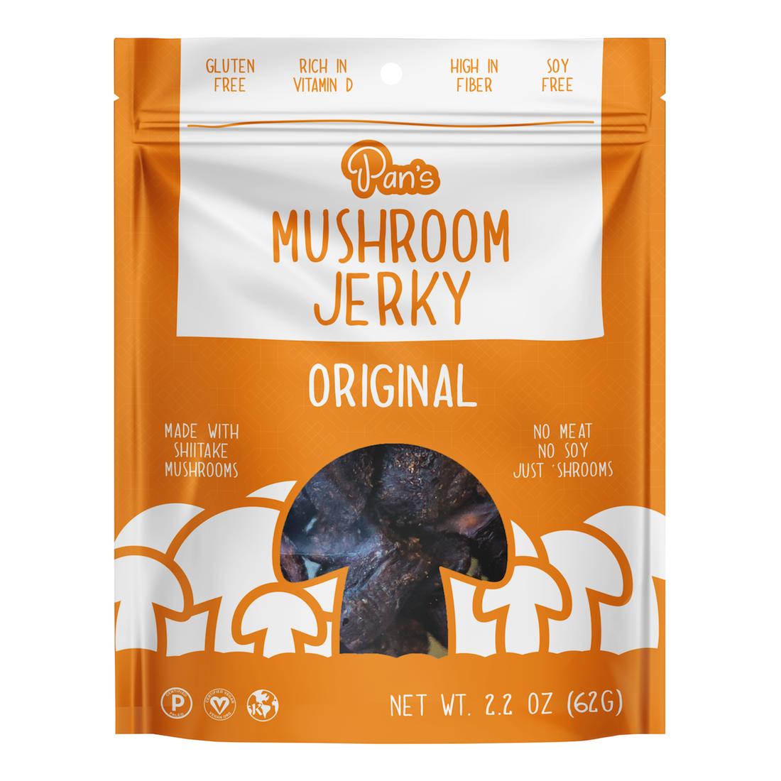 Original - Pan's Mushroom Jerky - Certified Paleo, PaleoVegan by the Paleo Foundation