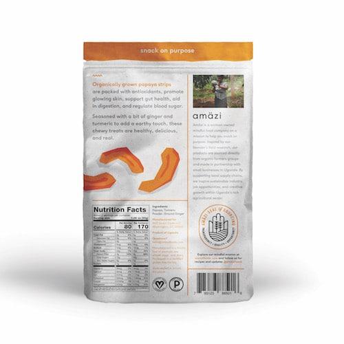 Papaya Ginger Turmeric back - Amazi - Certified Paleo - Paleo Foundation