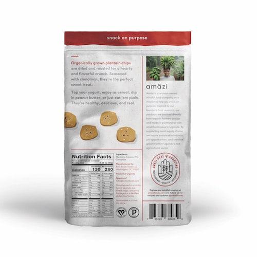 Plantain Cinnamon back - Amazi - Certified Paleo - Paleo Foundation