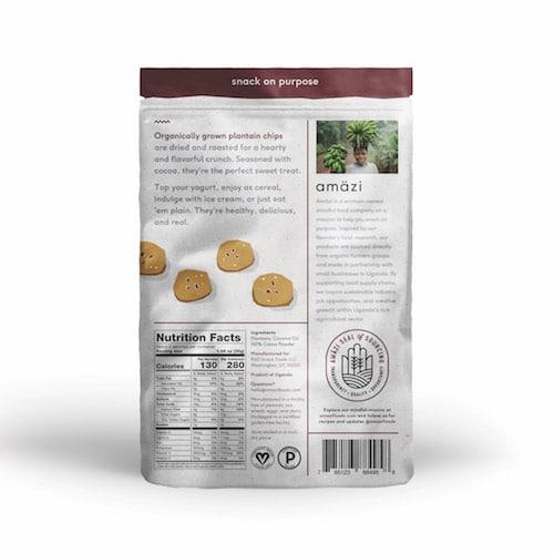Plantain Cocoa back - Amazi - Certified Paleo - Paleo Foundation