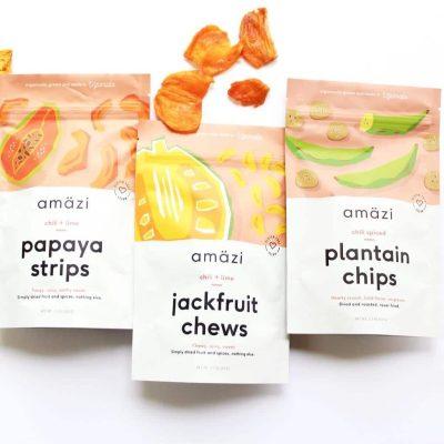 Plantains, Papaya Strips, & Jackfruit Chews - Amazi - Certified Paleo - Paleo Foundation