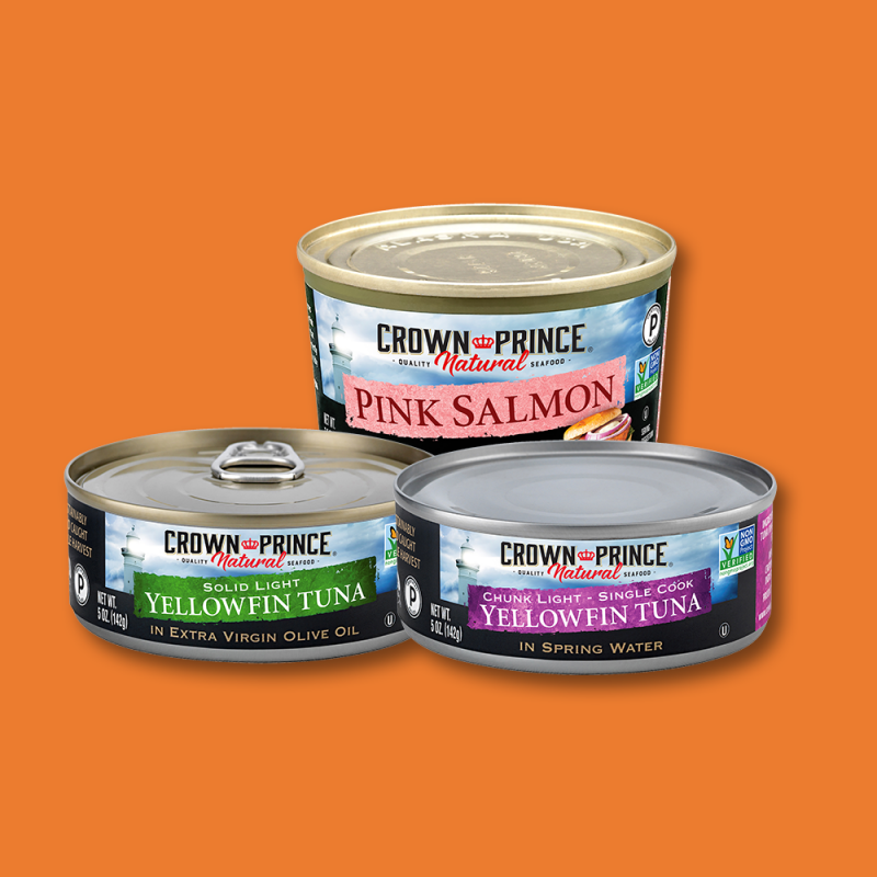 Salmon Tuna Lineup - Crown Prince - Certified Paleo Keto Certified by the Paleo Foundation