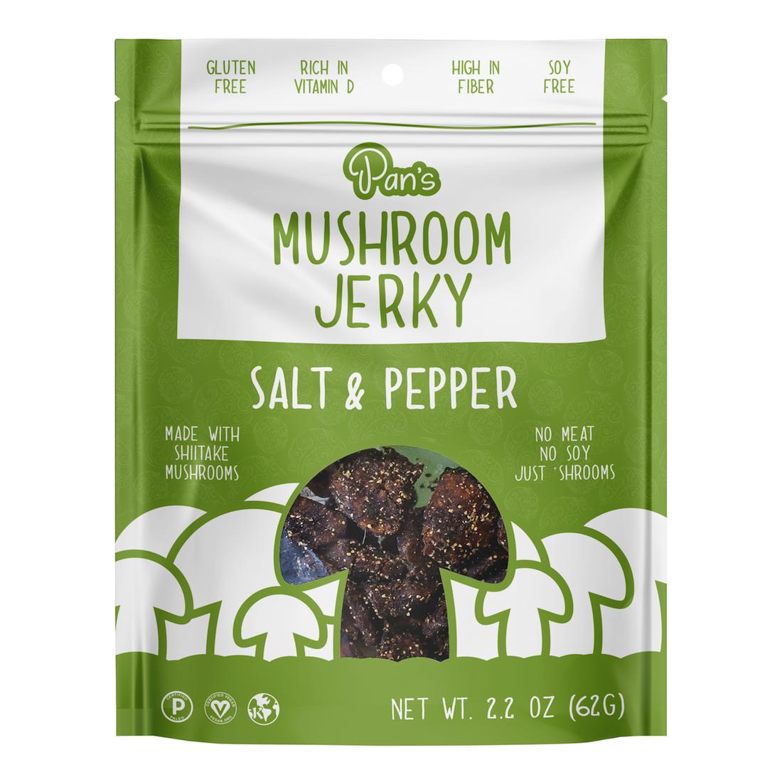 Salt & Pepper - Pan's Mushroom Jerky - Certified Paleo, PaleoVegan by the Paleo Foundation