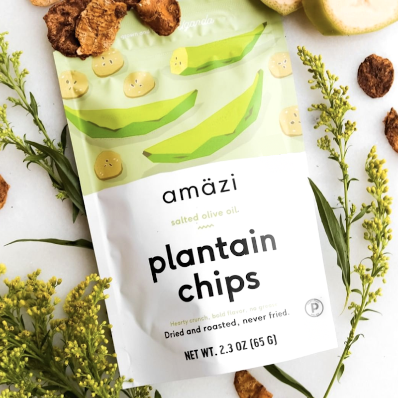 Salted Olive Oil Plantain Chips Amazi Foods