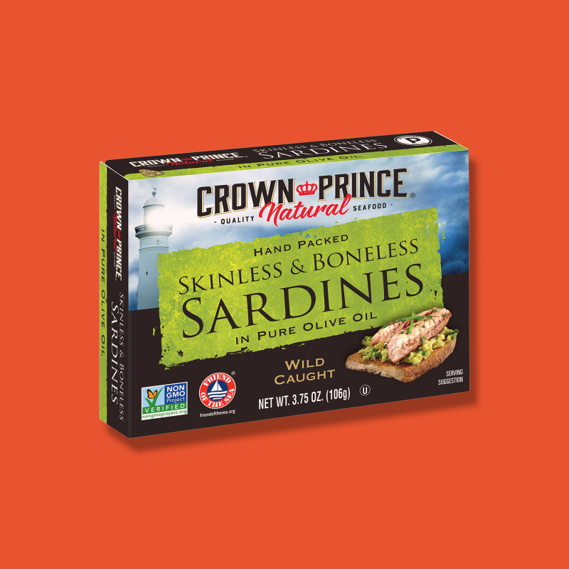 Sardines - Crown Prince - Certified Paleo Keto Certified by the Paleo Foundation