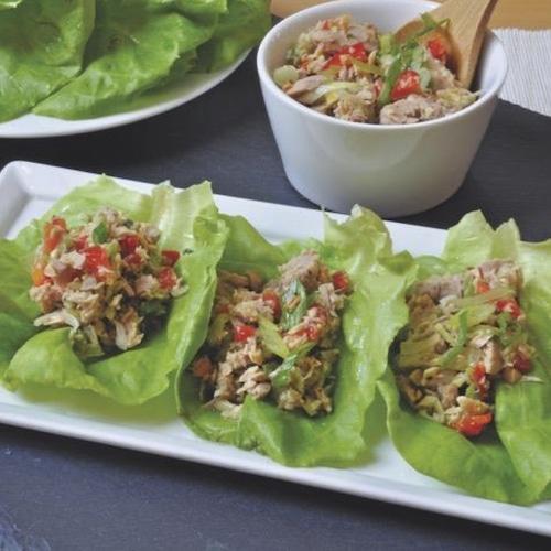 Spicy Tuna & Fresh Mint Lettuce Wraps - Crown Prince - Certified Paleo - Paleo Foundation