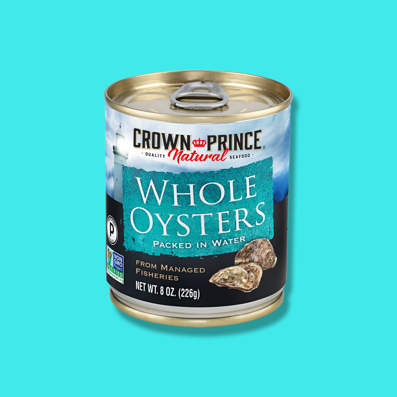 Whole Oysters - Crown Prince - Certified Paleo Keto Certified by the Paleo Foundation