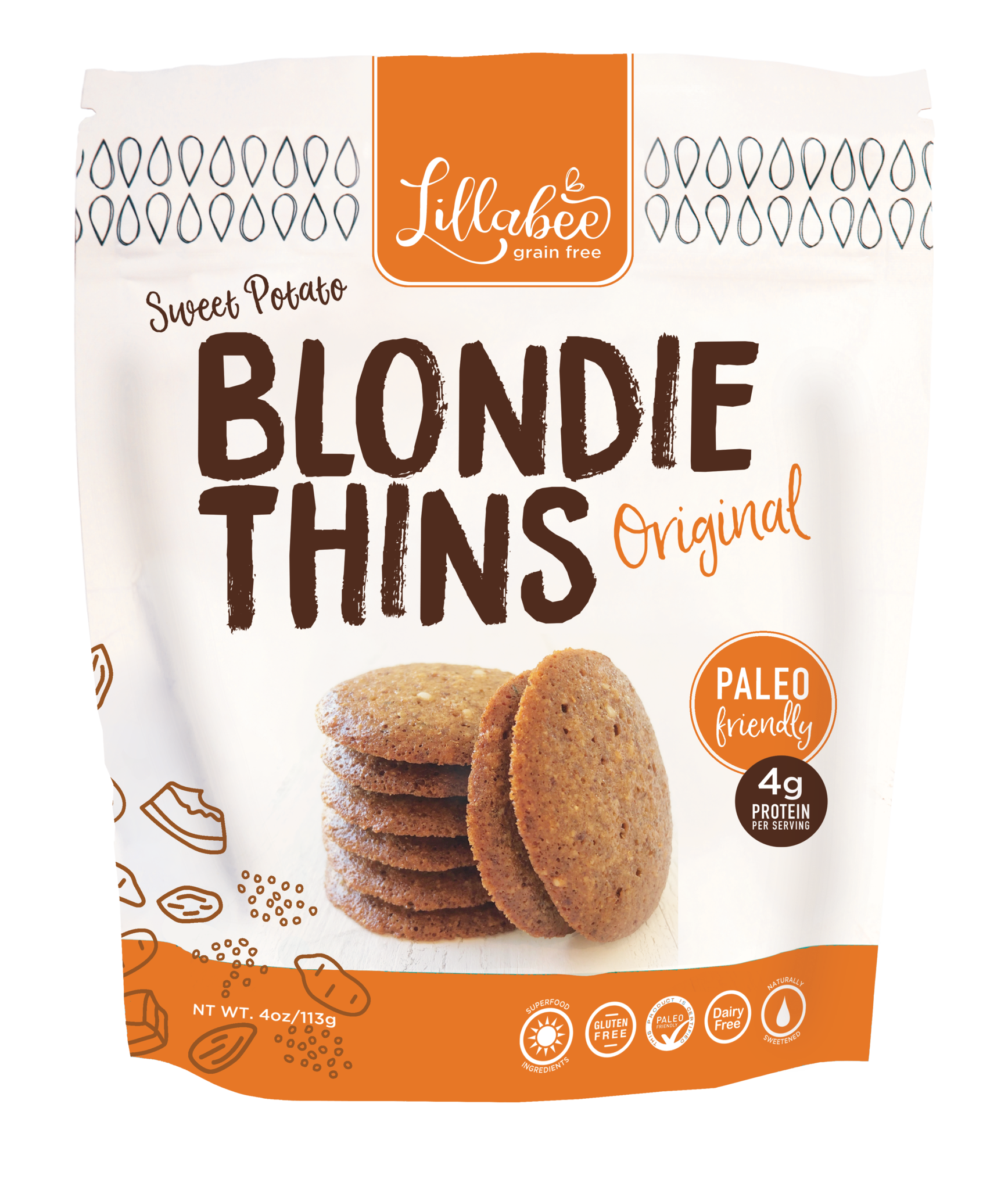 Blondie Thins Original - Lillabee Snacks - Paleo Friendly by the Paleo Foundation