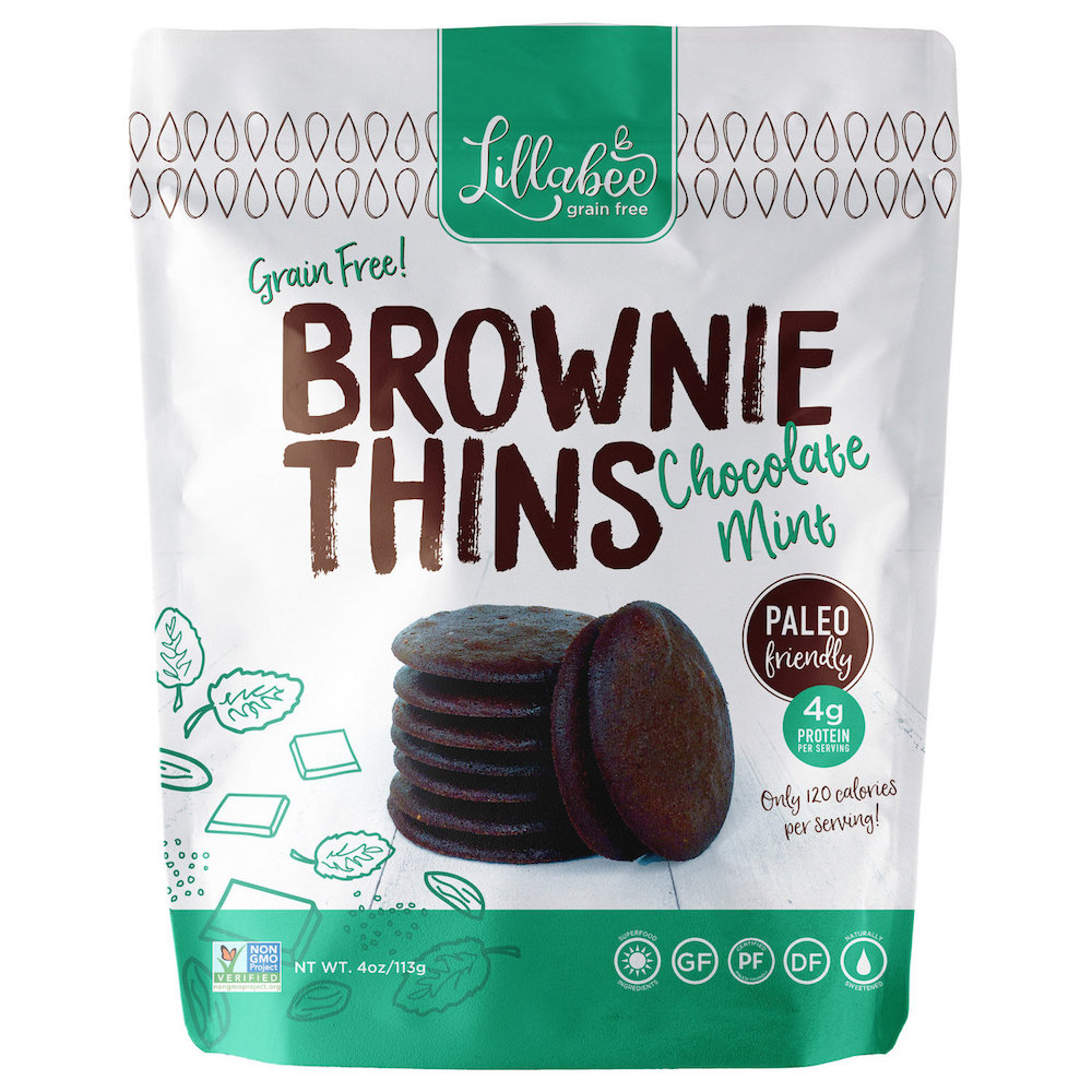 Brownie Thins - Chocolate Mint - Lillabee Baking - Certified Paleo Friendly by the Paleo Foundation