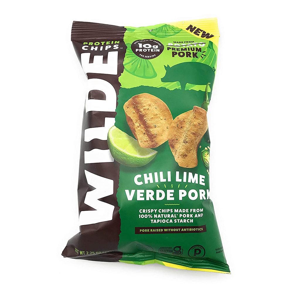 Chili Lime Verde Pork Chips - Wilde Brands - Keto Certified by the Paleo Foundation