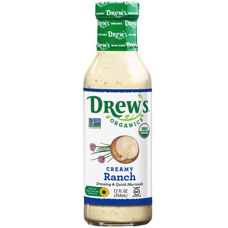 Creamy Ranch Dressing & Quick Marinade - Drew's Organics - Keto Certified by the Paleo Foundation