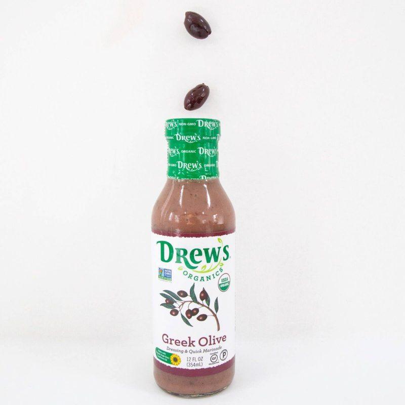 Greek Olive Dressing 01 - Drew's Organics - Certified Paleo, Keto Certified by the Paleo Foundation