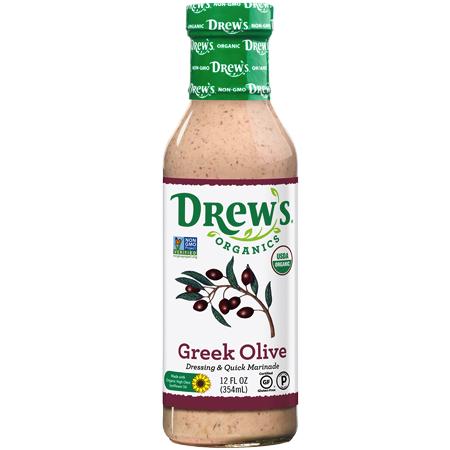 Greek Olive Dressing & Quick Marinade - Drew's Organics - Certified Paleo, Keto Certified by the Paleo Foundation