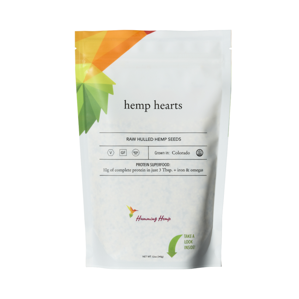 Hemp Hearts - Humming Hemp - Certified Paleo, KETO Certified by the Paleo Foundation