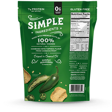 Jalapeno Chicken Chips - Wilde Brands - Certified Paleo - Paleo Foundation
