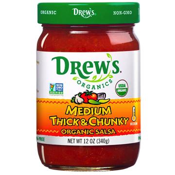 Medium Thick & Chunky Salsa - Drew's Organics - Certified Paleo, Keto Certified by the Paleo Foundation