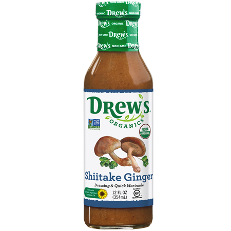 Shiitake Ginger Dressing & Quick Marinade - Drew's Organics - Keto Certified by the Paleo Foundation
