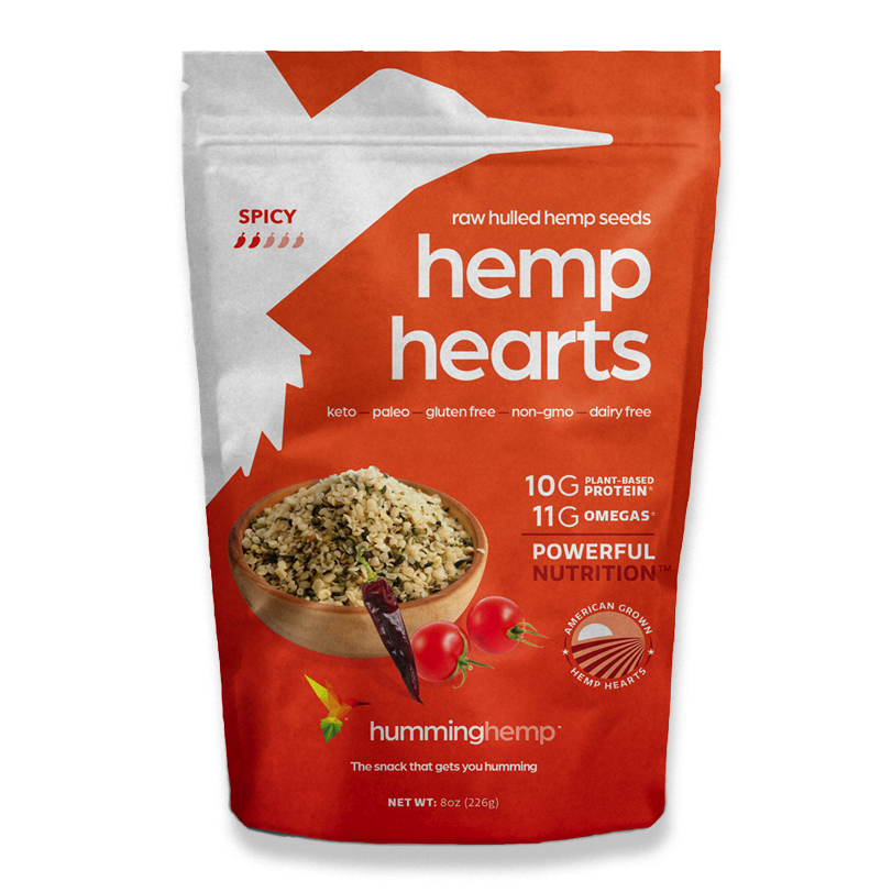 Spicy Hemp Hearts - Humming Hemp - Certified Paleo by the Paleo Foundation