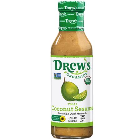 Thai Coconut Sesame Dressing & Quick Marinade - Drew's Organics - Keto Certified by the Paleo Foundation