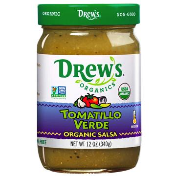 Tomatillo Verde Salsa - Drew's Organics - Keto Certified by the Paleo Foundation