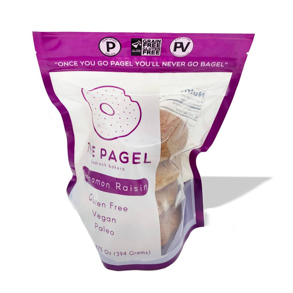 Cinnamon Raisin Pagel - Bedrock Bakers - Certified Paleo, Certified Grain Free Gluten Free by the Paleo Foundation