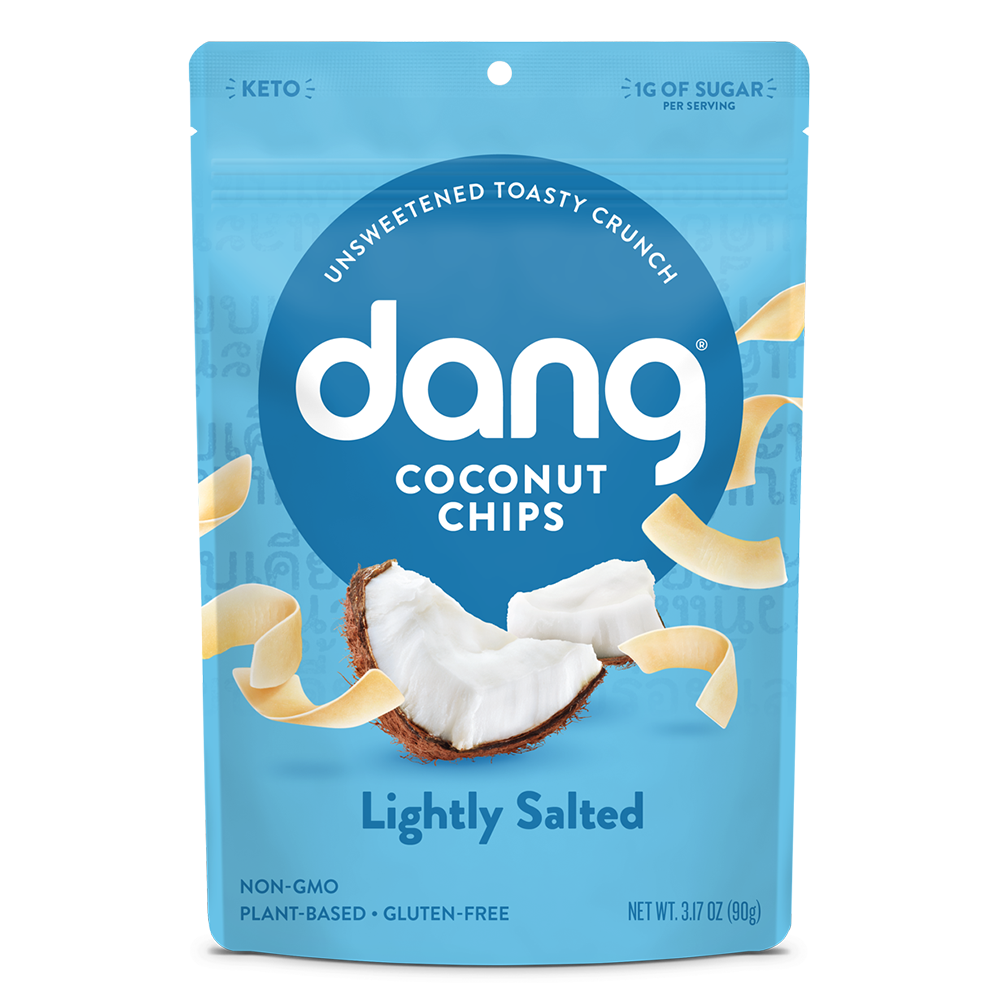 Coconut Chips - Lightly Salted - Dang Foods - Keto Certified by the Paleo Foundation