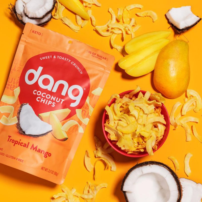 Coconut Chips - Tropical Mango 01 - Dang Foods - Keto Certified by the Paleo Foundation