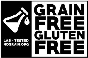 lab tested grain free gluten free certification logo